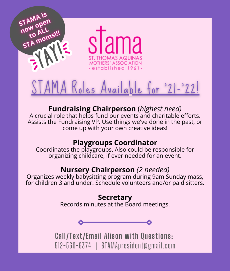 STAMA Board Roles Still Available 21-22 Aug 24