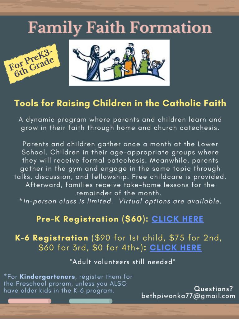 STA Family Faith Formation Calendar 2021-2022